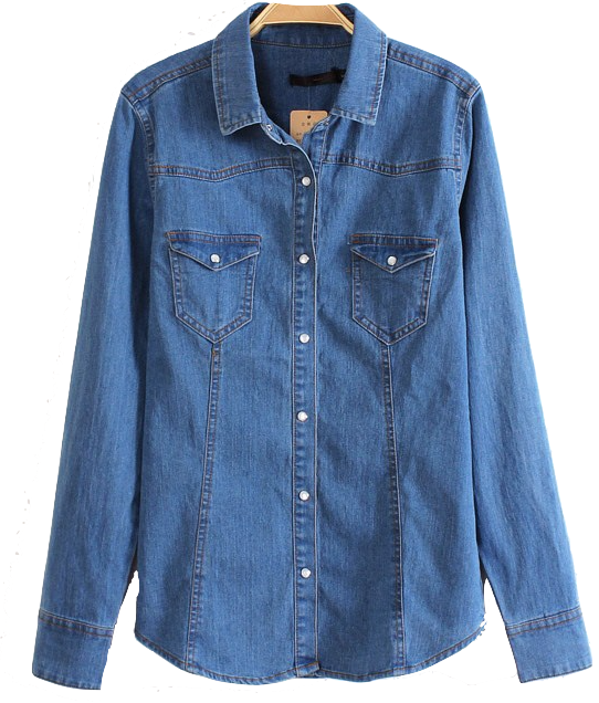 denim-button-down-shirt-featuring-snap-flat-chest-pockets