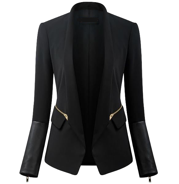 elegant-blazer-with-faux-leather-cuffs-and-side-zippers