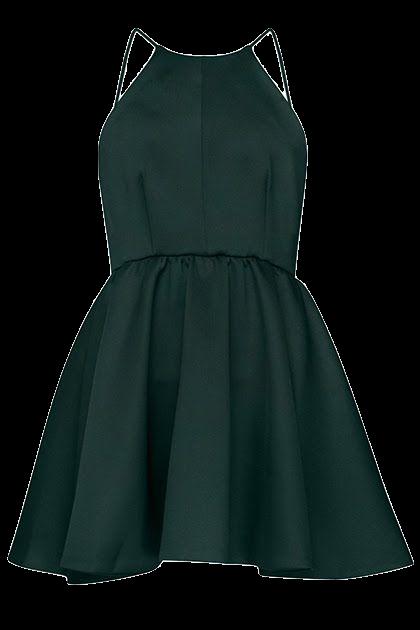 forest-green-short-a-line-dress