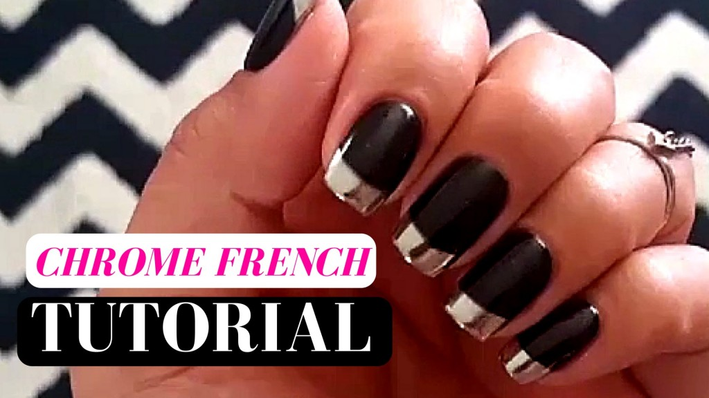 french-tip-chrome-nails