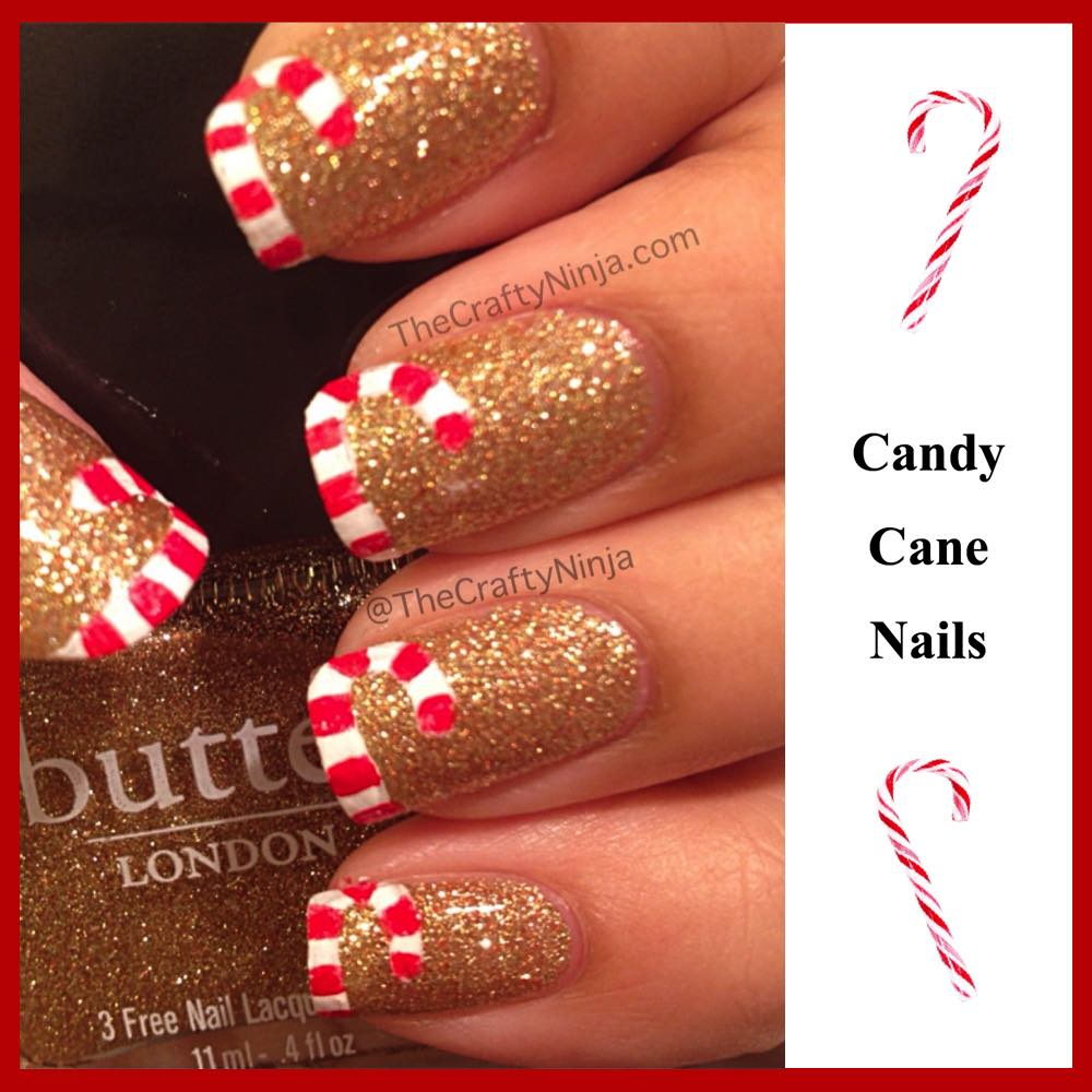 Gorgeous diy christmas nail art designs luullas blog gorgeous d i y christmas nail art designs candy cane prinsesfo Choice Image