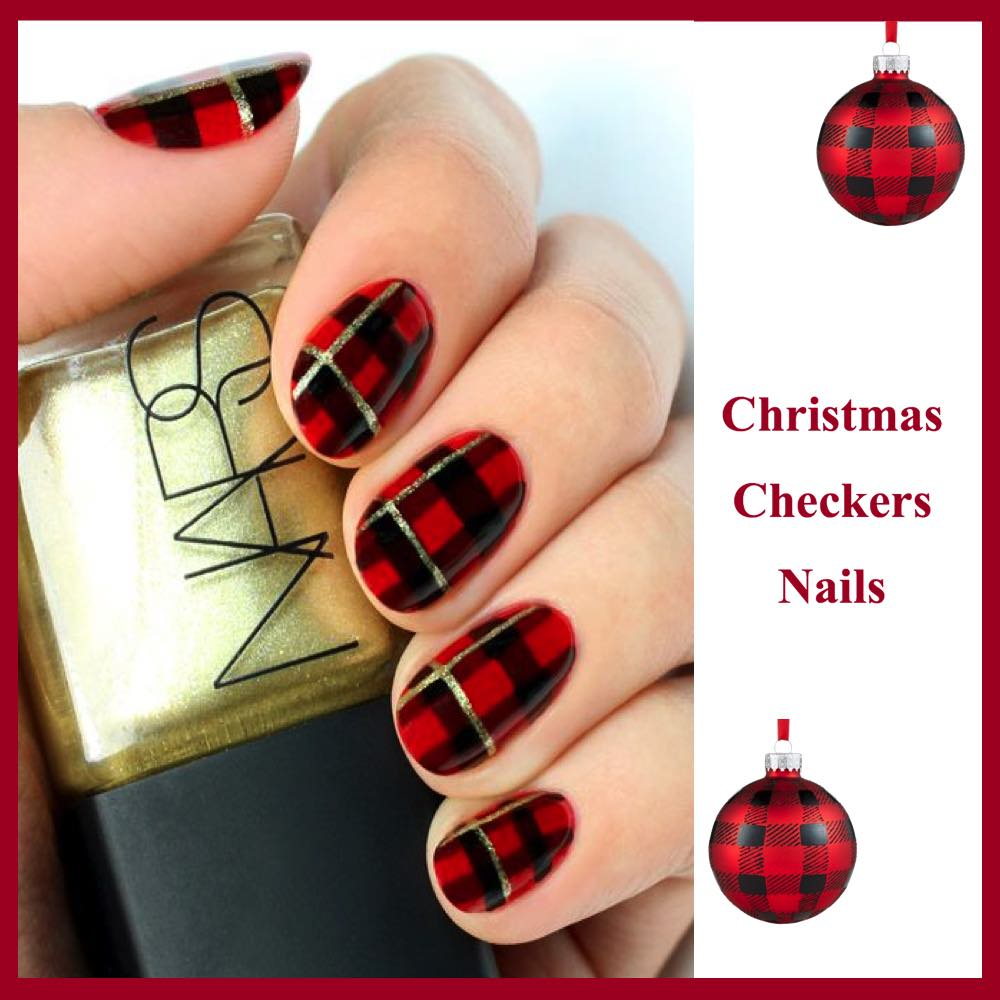gorgeous-d-i-y-christmas-nail-art-designs-christmas-checkers-nails