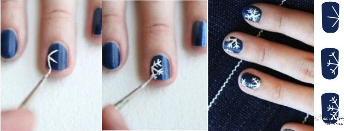 gorgeous-d-i-y-christmas-nail-art-designs-snowflake-nails-instructions