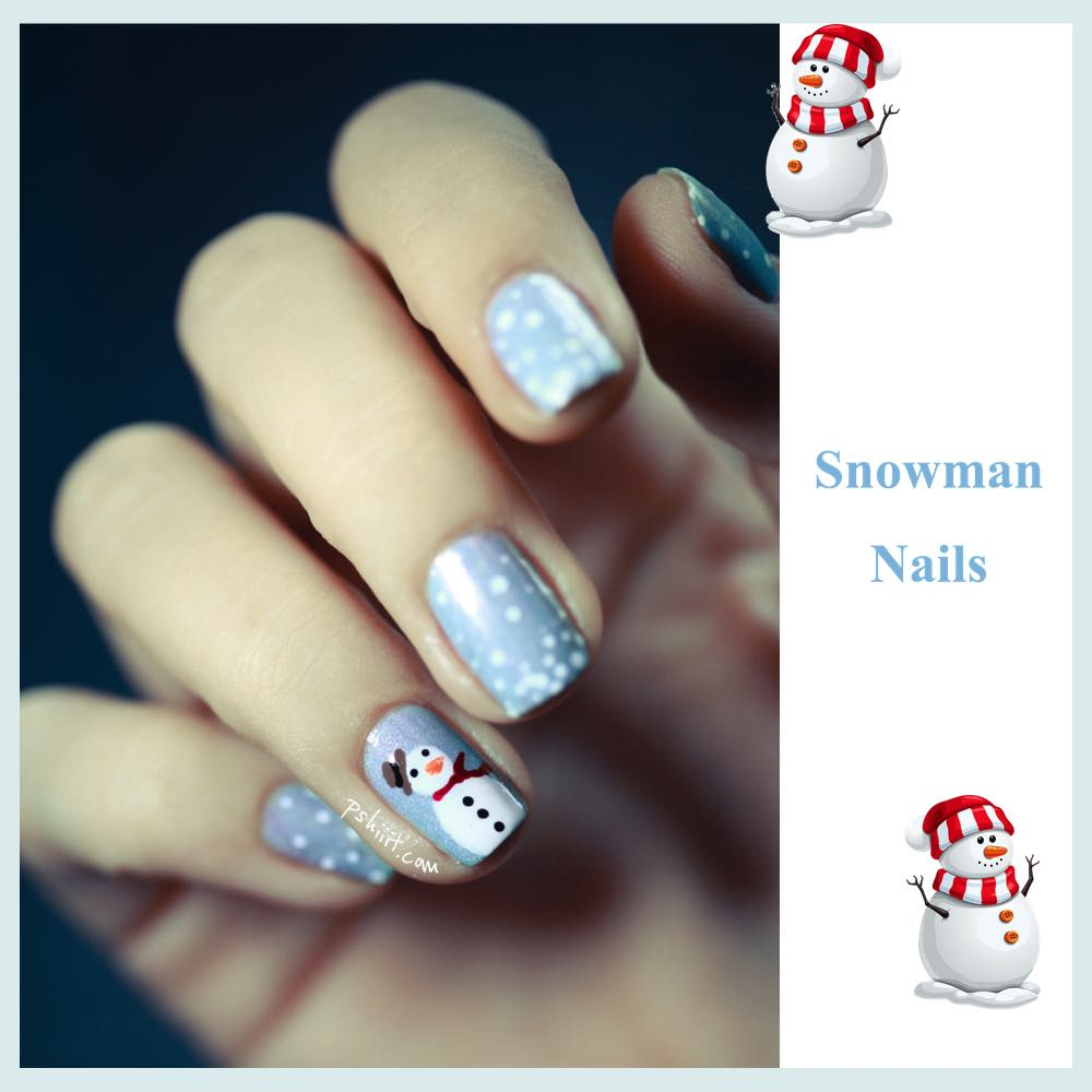 gorgeous-d-i-y-christmas-nail-art-designs-snowman-nails