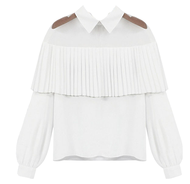 illusion-neckline-collar-blouse-with-pleated-embellishment