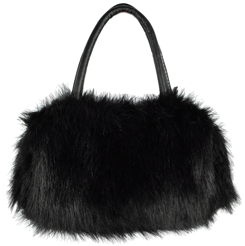 mini-furry-leather-handheld-bag