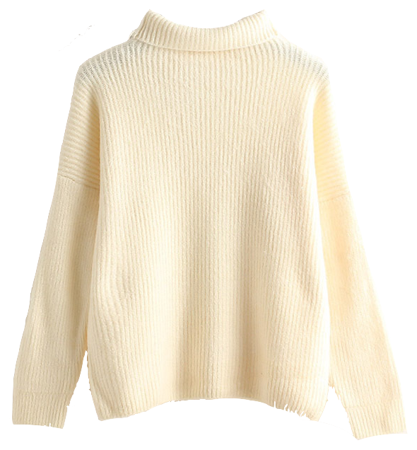 minimal-high-collar-knit-pullover-sweater