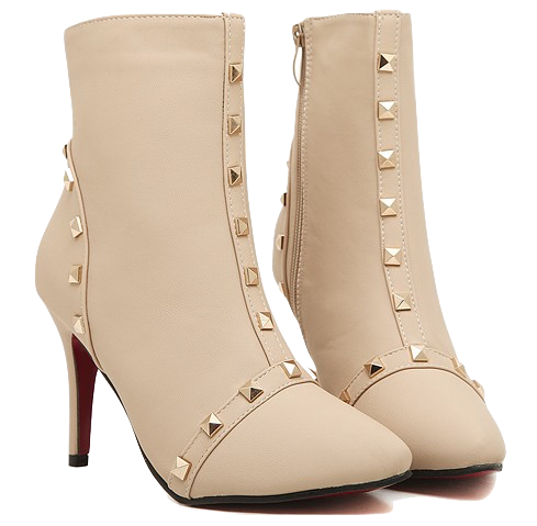 nude-rivets-embellished-high-heel-boots