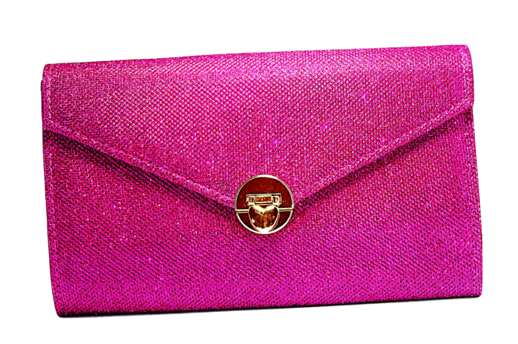 shimmering-envelope-clutch-with-gold-strap