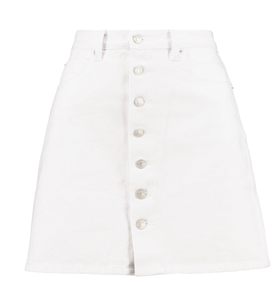 short-white-a-line-button-down-denim-skirt