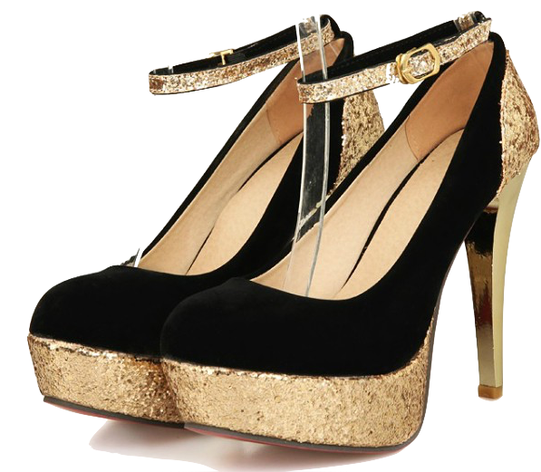 sparkling-gold-ankle-strap-party-heels