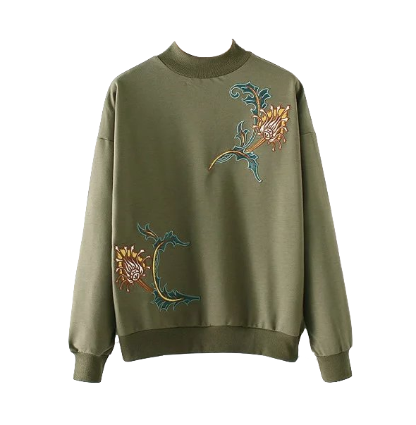 vintage-high-neck-floral-embroidery-sweater