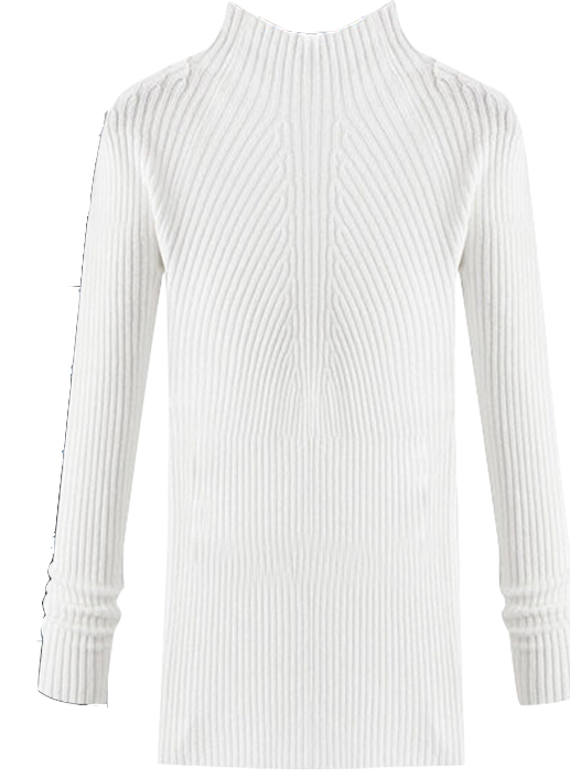 white-high-neck-knitted-sweater