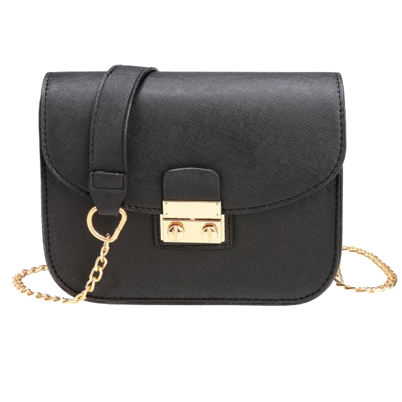 women-synthetic-leather-mini-chain-handbag
