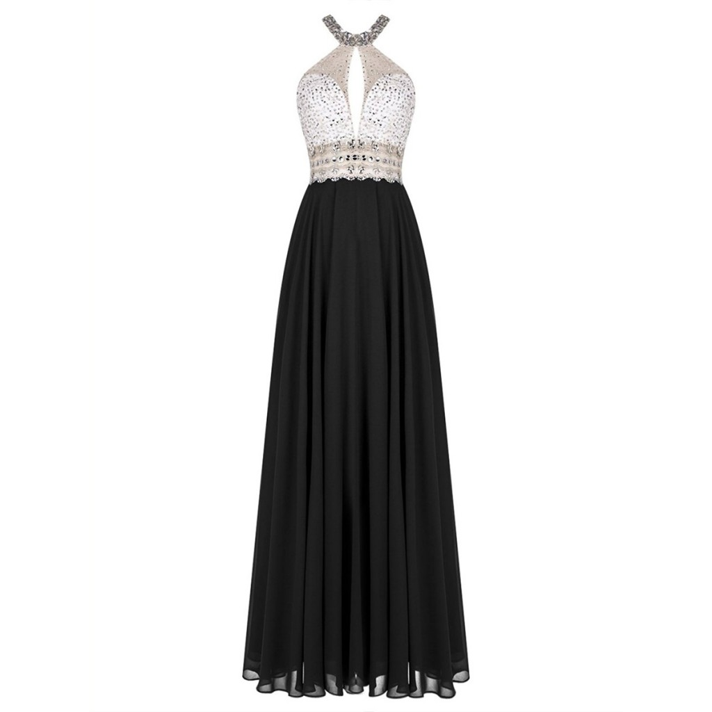black-chiffon-a-line-pleated-prom-dress-featuring-crystal-and-beaded-embellished-high-neck-halter-bodice-and-open-back