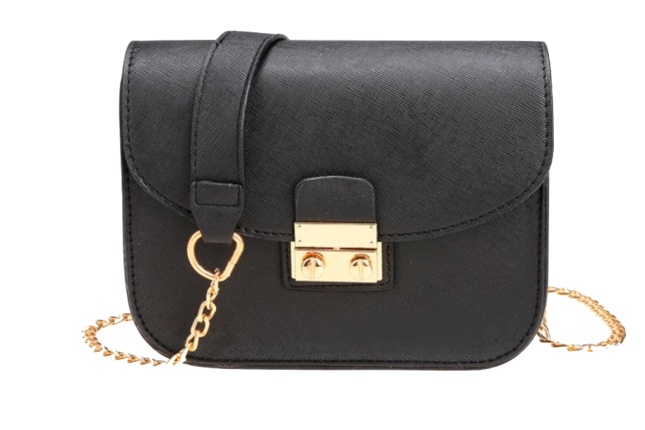 black-crossbody-featuring-chain-straps