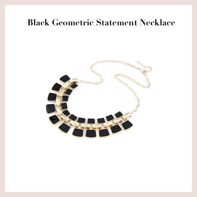 black-geometric-statement-necklace