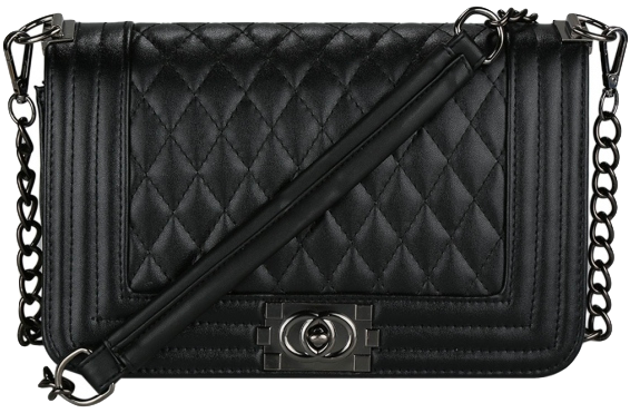 black-leather-crossbody-wih-quilted-texture-and-chain-straps