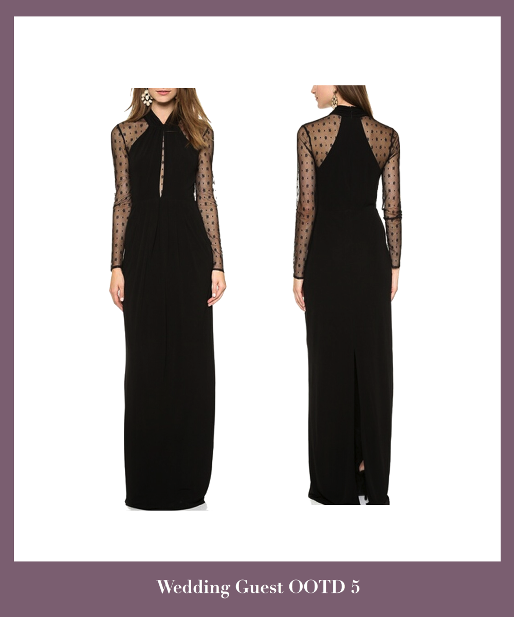 black-long-chiffon-evening-dress-featuring-halter-bodice-with-mesh-long-sleeves