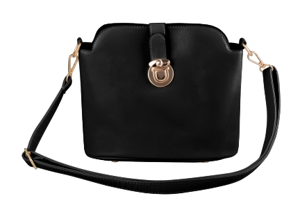 black-pu-leather-crossbody-bucket-bag