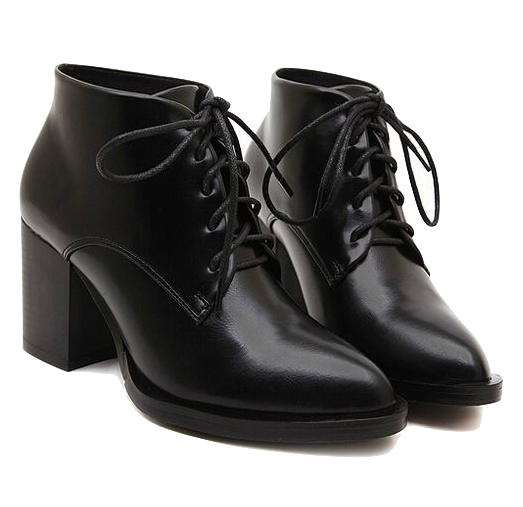 black-pointed-toe-lace-up-ankle-boots