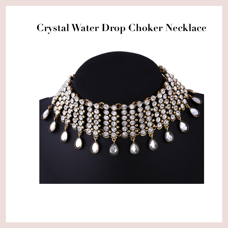 crystal-water-drop-choker-necklace
