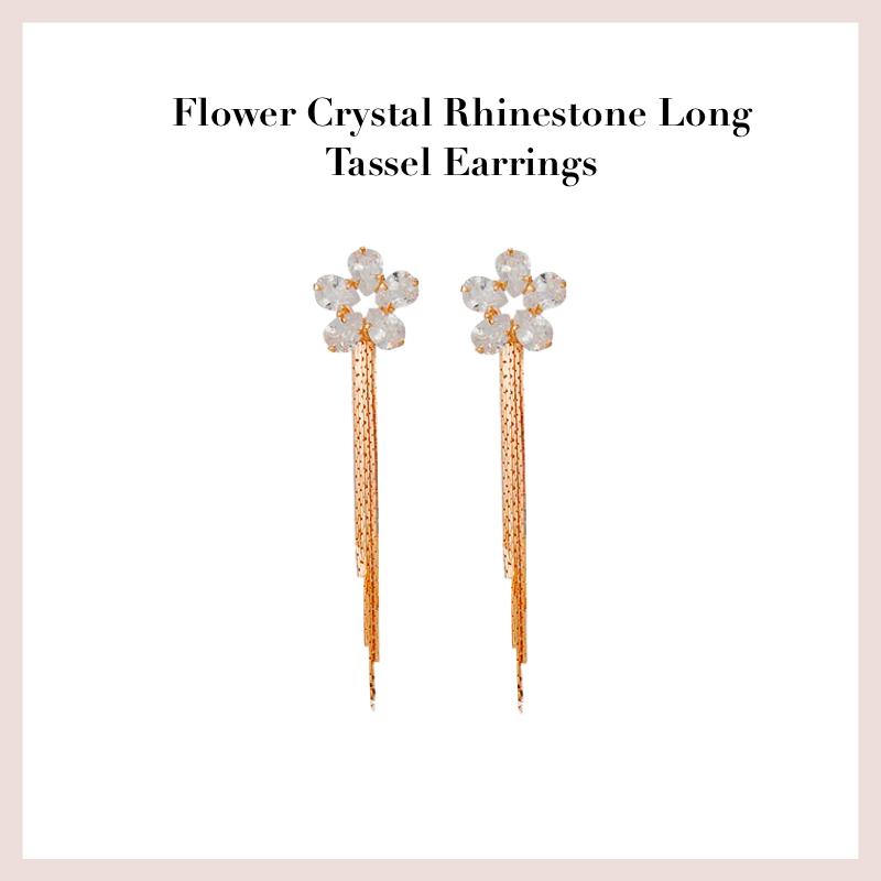 flower-crystal-rhinestone-long-tassel-earrings