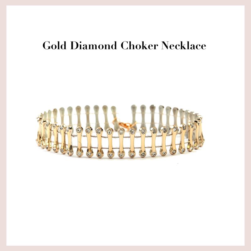 gold-diamond-choker-necklace