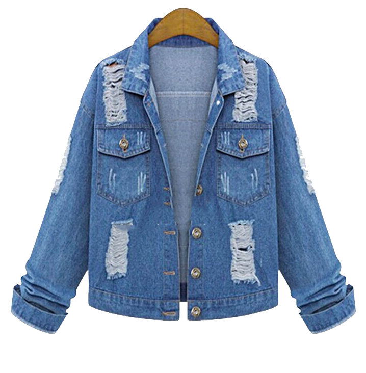 heavily-distressed-denim-jacket