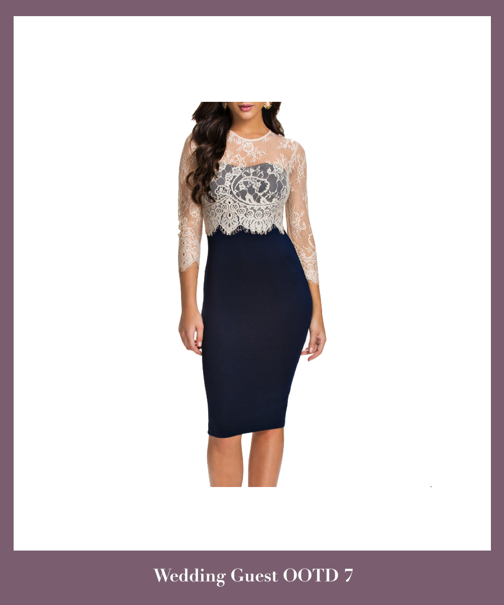 knee-length-pencil-dress-featuring-lace-appliques-mesh-long-sleeves-bodice