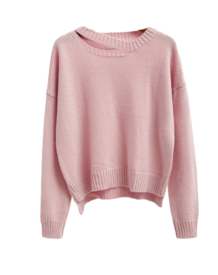 pink-sweater-with-cutout-detailing