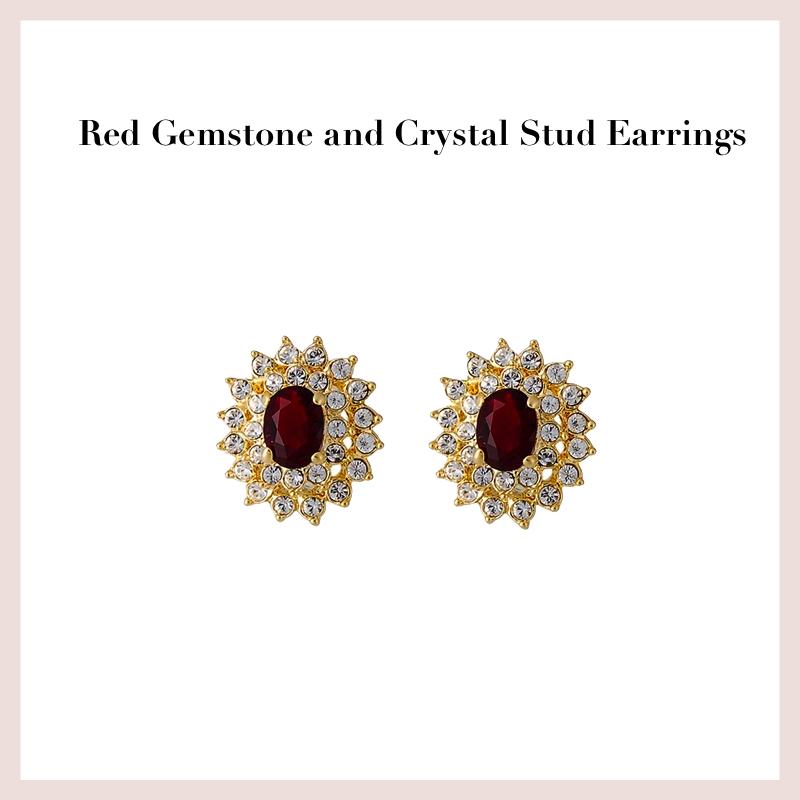 red-gemstone-and-crystal-stud-earrings