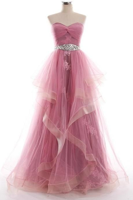 strapless-sweetheart-long-prom-dress-with-twist-knot-bodice-and-jewel-waistband