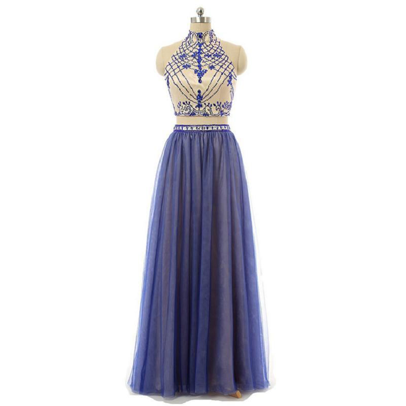 two-piece-floor-length-tulle-prom-dress-with-high-neck-halter-beaded-bodice