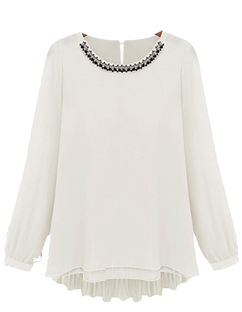 white-chiffon-long-sleeve-blouse