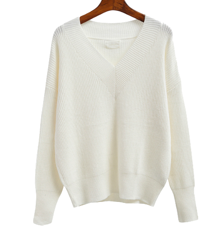 white-plunge-v-knitted-sweater