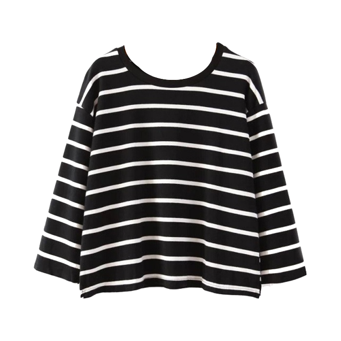 womens-black-long-sleeve-striped-crop-top-t-shirt