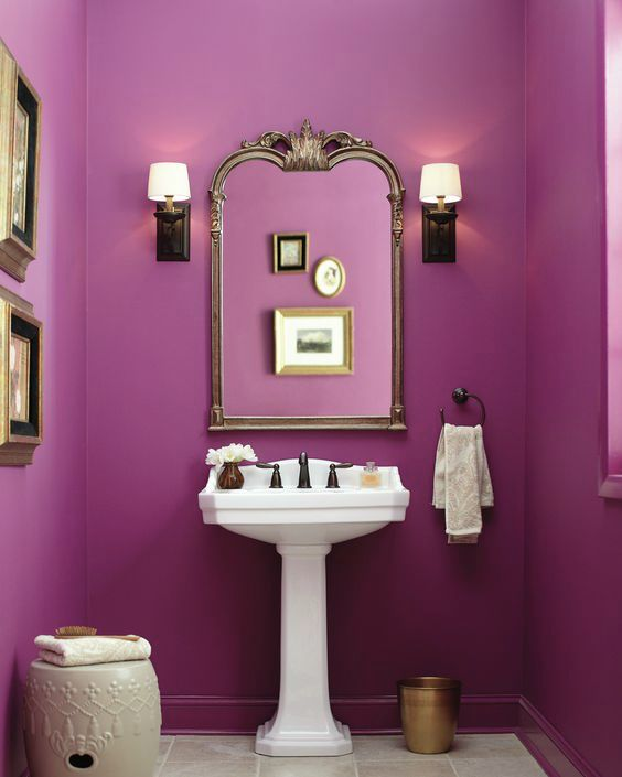Using Bold Colors In The Bathroom: 2017 Color Trends For Your Home Interior, According To Paint Experts