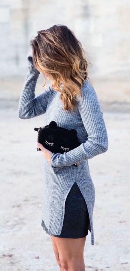 fall-fashion-gray-knit-noir