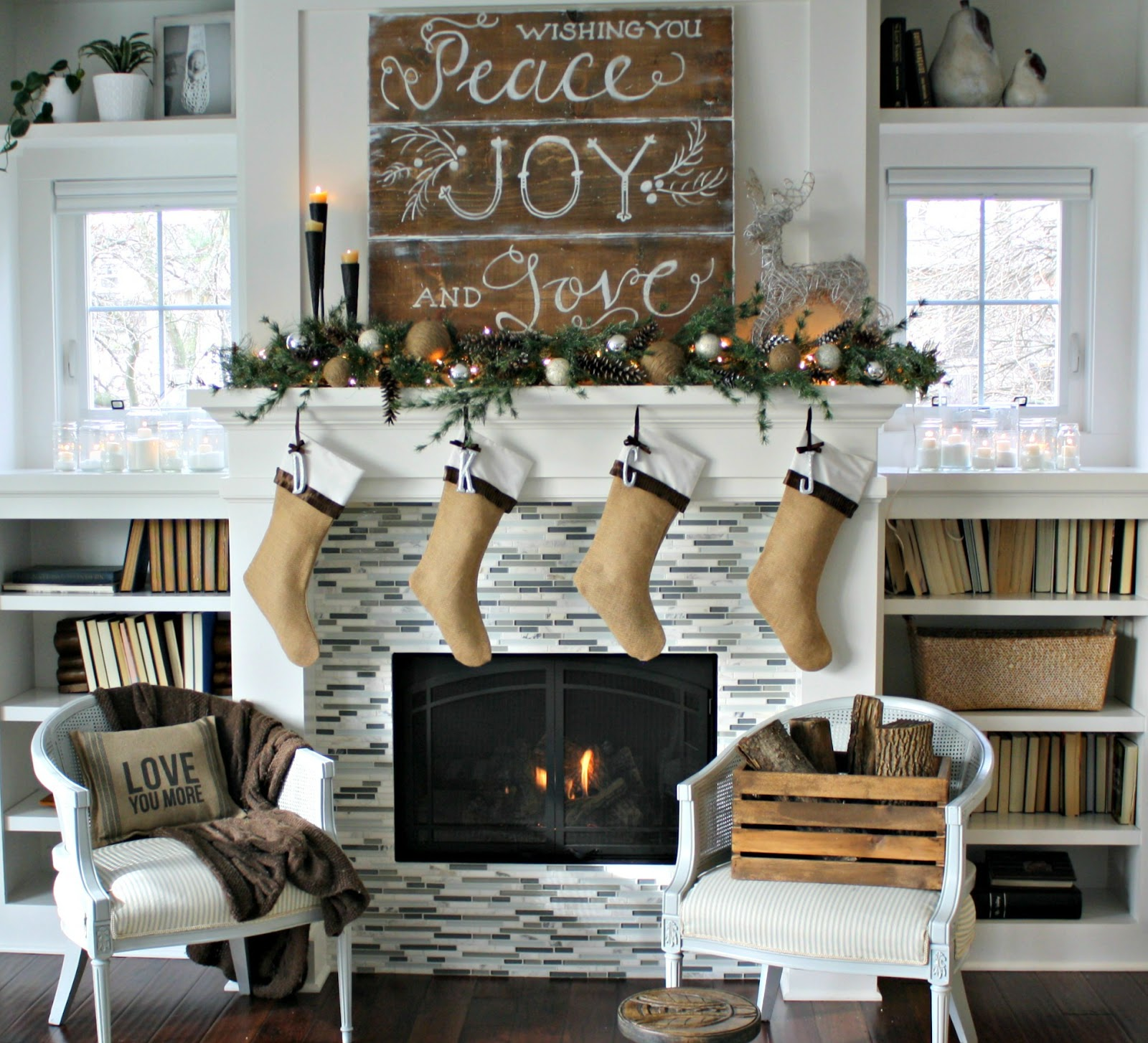 White rustic christmas decor - Rustic Christmas Decoration 2