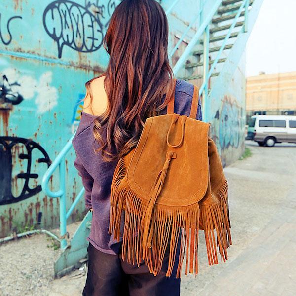 tassel-suede-backpack