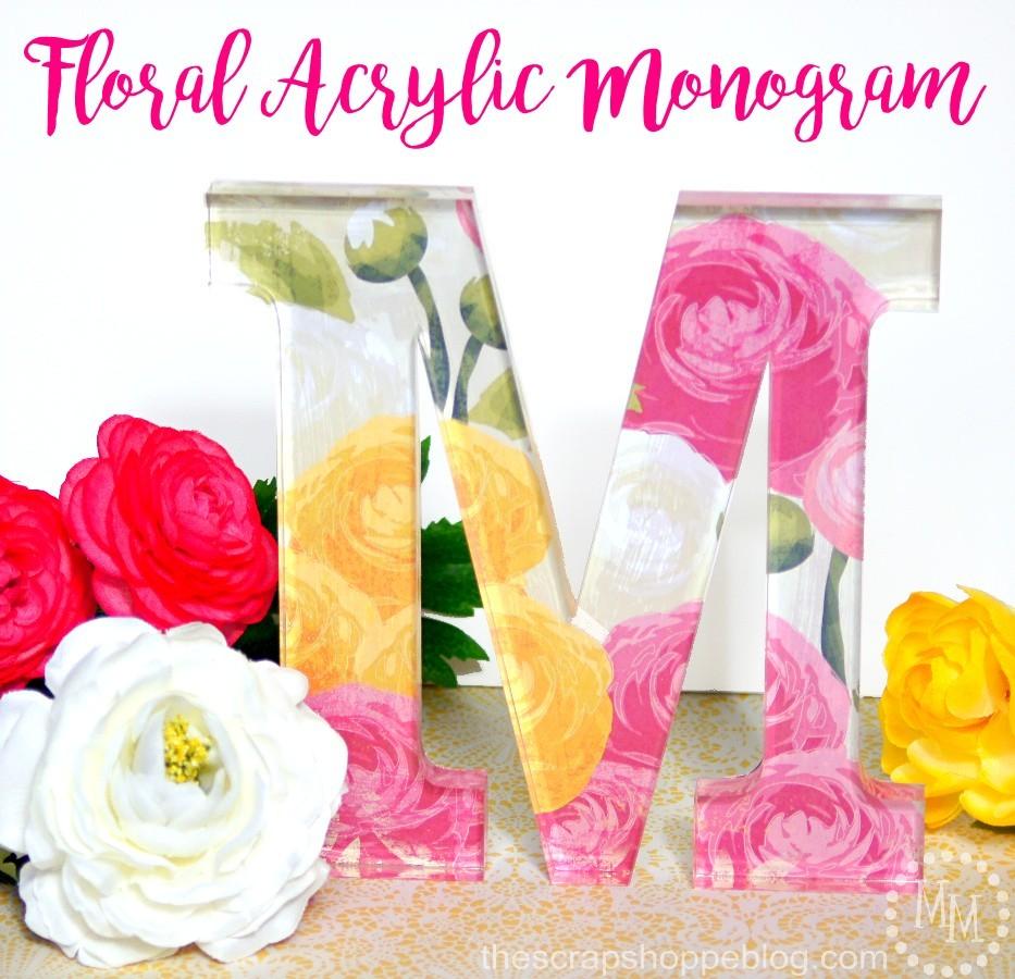 Floral Acrylic Monogram