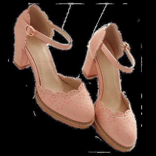 ankle-strap-heels-pink