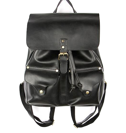 double-pocket-black-backpack
