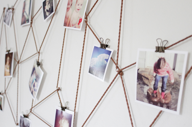 geometrical-wall-photo-display