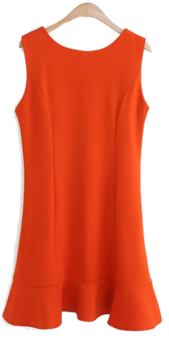 Sleeveless-round-neck-retro-dress