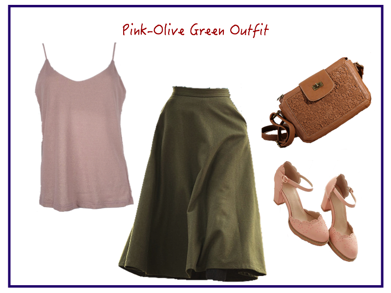 pink-olive-green-outfit