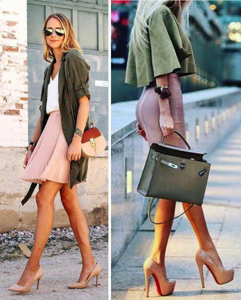 pink-olivegreen-outfits