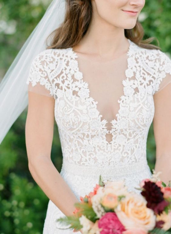 plunging-neckline-wedding-dress