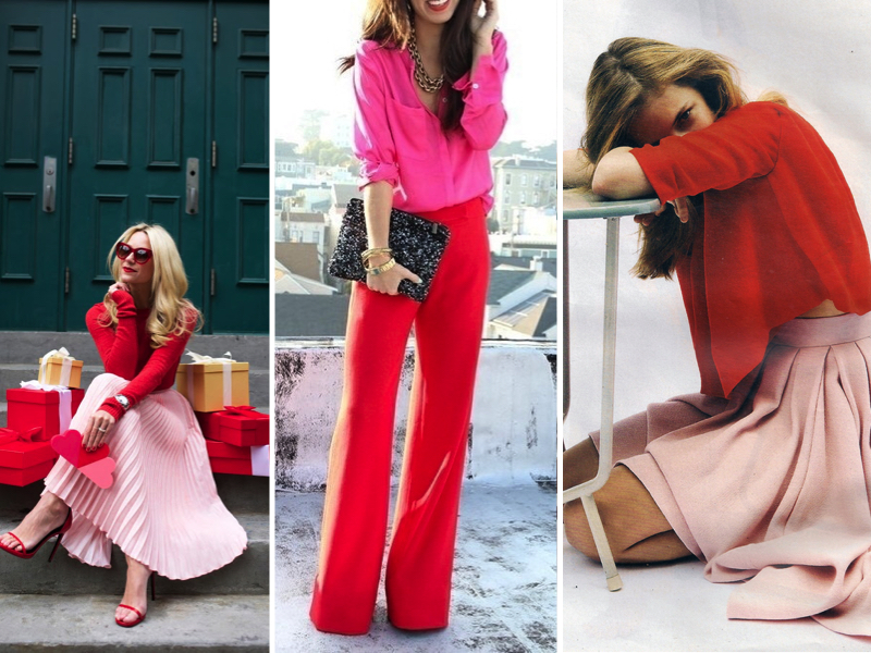 red-pink-outfits